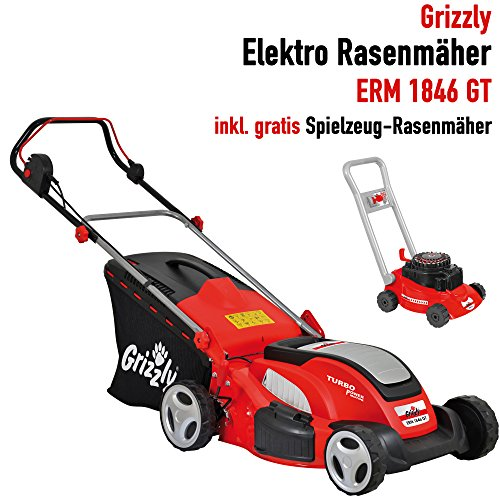 grizzly elektro rasenm her erm 1846 gt mit stahlgeh use 1800 w turbo power motor 46 cm. Black Bedroom Furniture Sets. Home Design Ideas